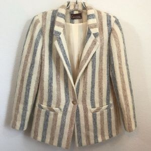 Vintage Gregge Sport Single Button Blazer Sz 8